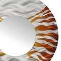 Statements2000 Silver / Brown Metal Decorative Wall-Mounted Mirror by Jon Allen - Mirror 107 - Thumbnail 5