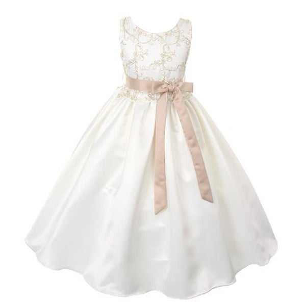 Shop good girl little girls off white lace overlay satin flower girl good girl little girls off white lace overlay satin flower girl dress mightylinksfo