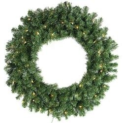 - Prelit Norway Pine Wreath 200 Tips; 35 Lights 24""