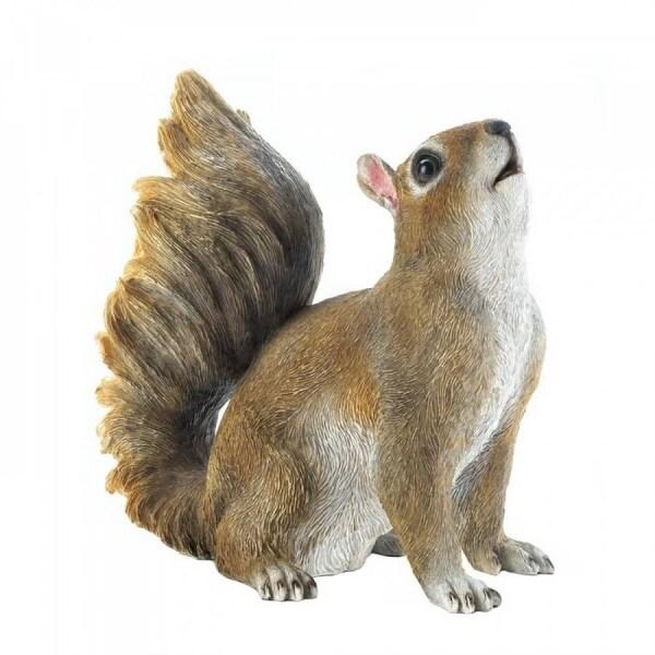 Bushy Tail Squirrel Figurine