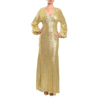 Mac Duggal Dazzling Allover Sequins Crystal Embellished Gown Dress - 0