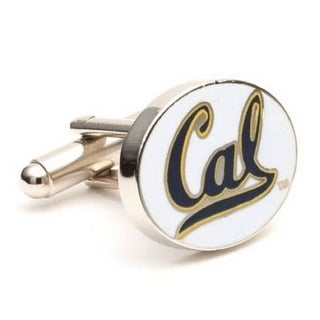 Silver Plated University of California Bears Cufflinks