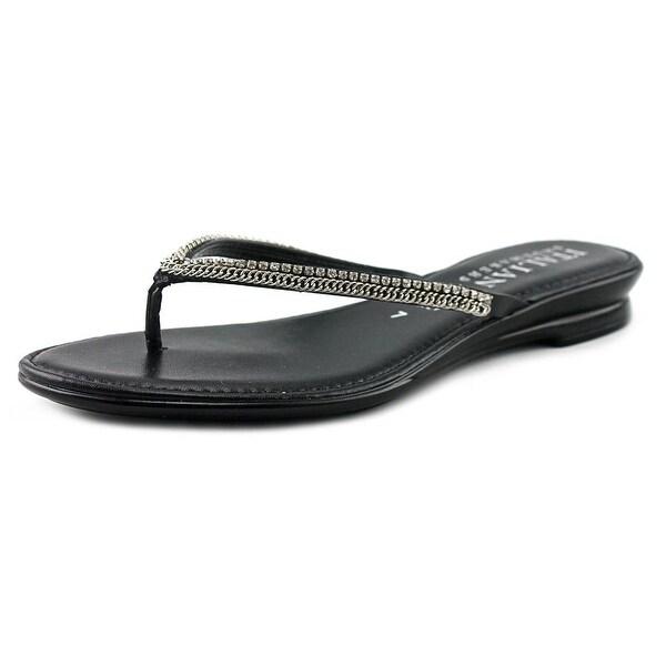 034aeaeb9ba Italian Shoe Makers Kennedy Women Open Toe Synthetic Black Thong Sandal