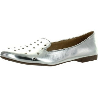 Wanted Shoes Women's Explode Loafer - Silver - 8.5 b(m) us