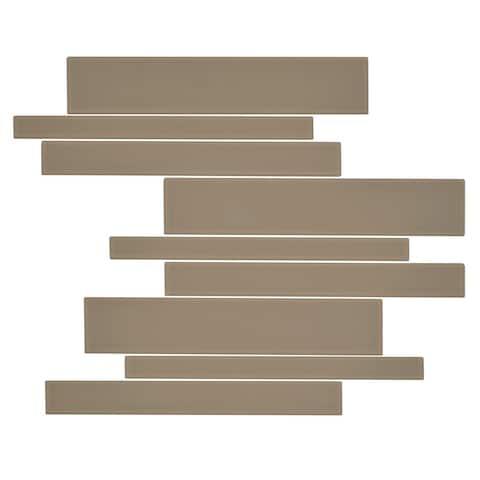 "Miseno MT-G1 Linear - 11"" x 13"" Random Linear Wall Mosaic Tile -"