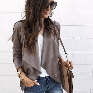 Link to 2019 Fashion Suit Collar Irregular Cardigan Similar Items in Women's Outerwear