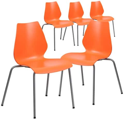 5 Pack HERCULES Series 770 lb. Capacity Stack Chair with Lumbar Support