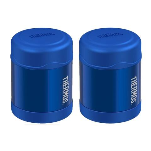 Thermos Funtainer Vacuum Insulated Steel Food Jar (10 oz/ Blue) - 2 PK - 10 Oz