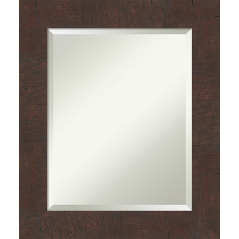 Wildwood Brown Bathroom Vanity Wall Mirror