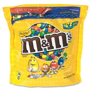 Mars, Inc M&Ms Chocolate Candy, with Zipper on Bag, 42