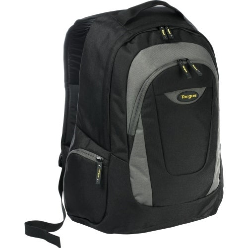 """Targus TSB193US Targus Trek Carrying Case (Backpack) for 16"" Notebook - Black, Yellow, White Accent - Polyester - Shoulder"