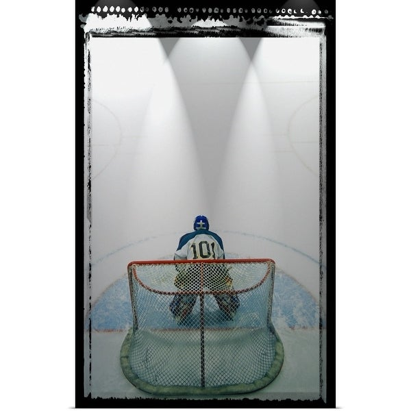 Shop Poster Print Entitled Hockey Goalie In Crease Multi Color