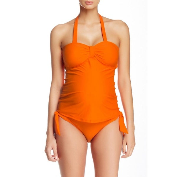 fe9c42c906 Shop Maternal America Womens Carrie Maternity Halter Tankini Swimsuit - L -  Free Shipping On Orders Over $45 - Overstock - 16791170