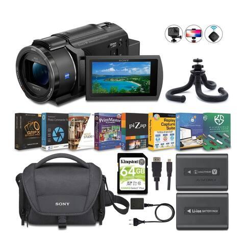 Sony FDR-AX43 4K UHD Handycam Camcorder Content Creator Bundle