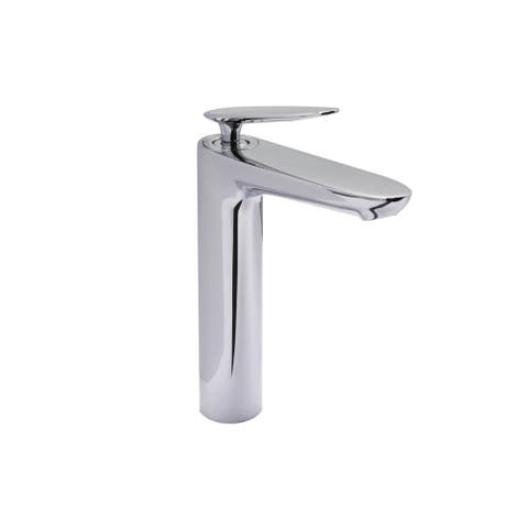 Single Handle, Single Hole Tall Bathroom Faucet, Chrome Finish - Single Hole