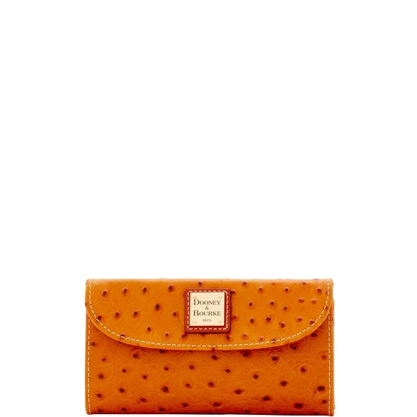 Dooney & Bourke Ostrich Embossed Leather Continental Clutch (Introduced by Dooney & Bourke at $128 in Jun 2017)