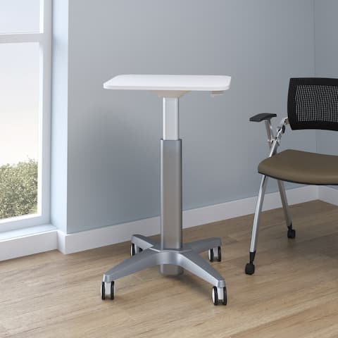 Aidin Height Adjustable Table - White