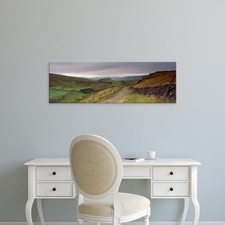 Easy Art Prints Panoramic Images's 'Path, Ribblesdale, Yorkshire Dales, Yorkshire, England, United Kingdom' Canvas Art