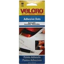 "Removable - VELCRO(R) Brand Adhesive Dots 3/8"" 80/Pkg"