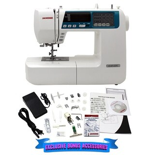 Janome 4120QDC-B Computerized Quilting and Sewing Machine with Bonus Quilt Kit