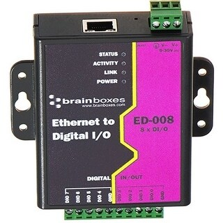 """Brainboxes ED-008 Brainboxes Ethernet to 8 Digital IO Lines - ED-008 - 1 x Network (RJ-45) - Fast Ethernet - Rail-mountable"""