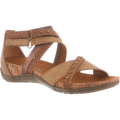 e4c0efa9945e Bearpaw Women s Julianna Studded Cork Sandal Tan Synthetic