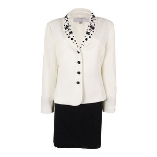 Tahari Women's Embellished Skirt Suit