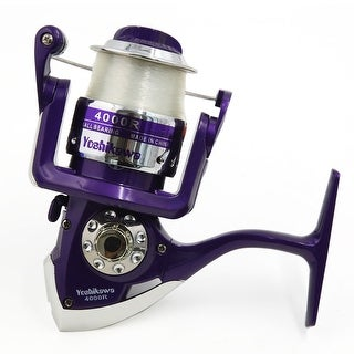 4000R 4.7:1 Gear Ratio 3 Ball Bearings Spinning Reel Fishing Reel Purple Silver Tone