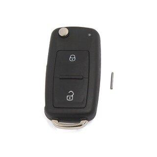 2 Button Uncut Blade Flip Fob Remote Key Case for VW Transporter T5 Polo Golf