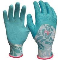 Digz 77383-26 Latex Gardening Gloves, Medium, Blue