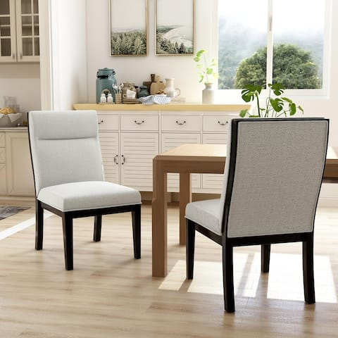 Furniture of America Zibo Contemporary Beige Side Chairs (Set of 2)
