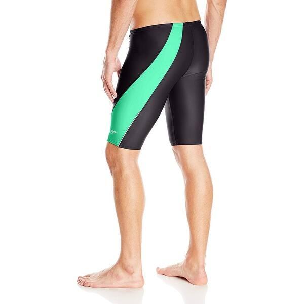 Green Speedo Mens and Boys PowerFLEX Eco Revolve Splice Jammer Swimsuit 30