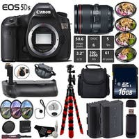 Canon EOS 5DS DSLR Camera With 24-105mm f/4L II Lens + Professional Battery Grip + Extra Battery + Tripod Bundle - Intl Model