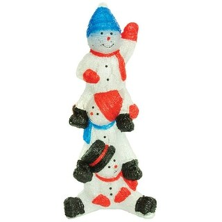 Alpine LWQ104T Christmas Stacking Snowmen With LED Light