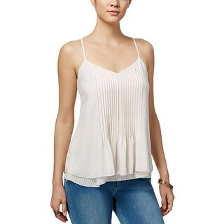 Sanctuary Womens Camisole Top Shadow Gingham Pintuck