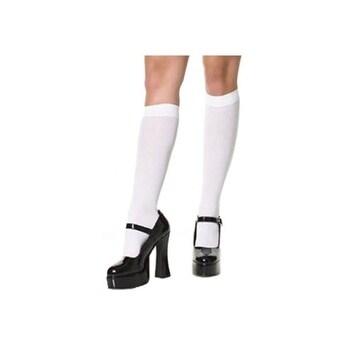 White Knee High Stockings