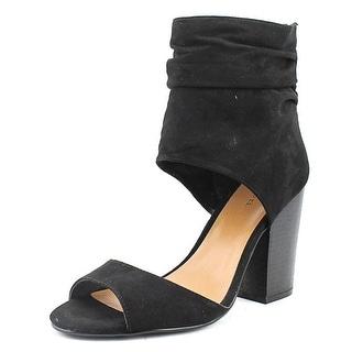 Indigo Rd. Ivana Women  Open-Toe Canvas Black Heels