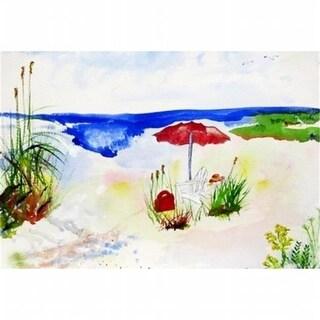 Betsy Drake DM380 Red Beach Umbrella Door Mat Small