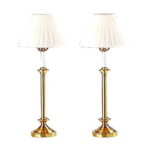 Table Lamps Brass Pair 27H | Renovator's Supply