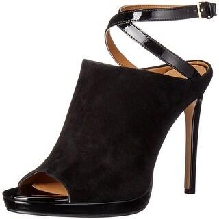 Calvin Klein Womens Samanta Peep Toe Ankle Strap Classic Pumps