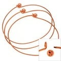 Copper Plated Wire Beading Bracelet With Ball - Add A Bead (3 Bracelets) - Thumbnail 0