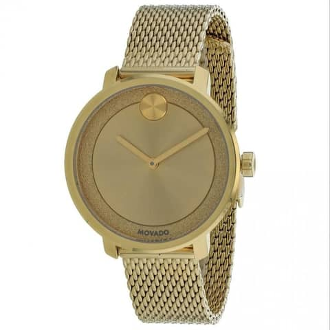 Movado Women's 3600580 'Bold' Gold-Tone Stainless Steel Watch