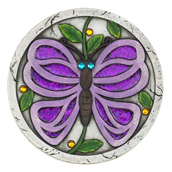 Home Purple Butterfly Garden Stepping Stone