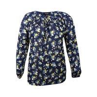 Style & Co. Women's Plus Size Floral-Print Peasant Top
