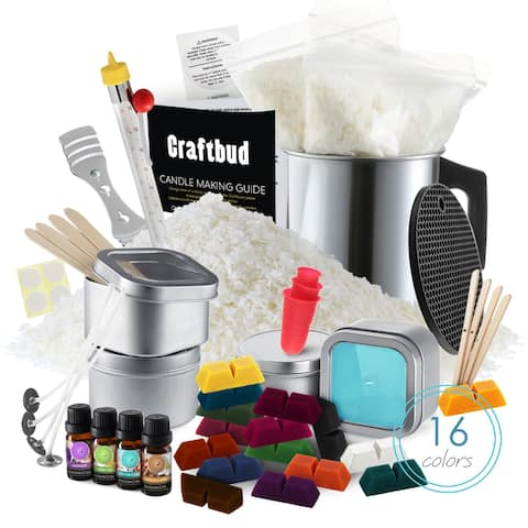 CraftBud DIY 52 Piece Soy Candle Making Kit for Adults and Children