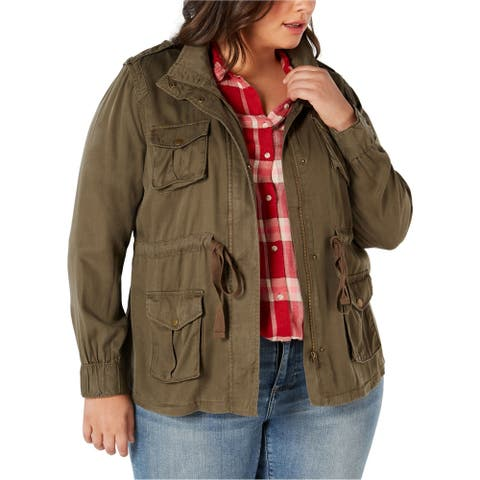 Style & Co. Womens Lightweight Cargo Jacket