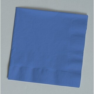 Touch of Color 150 Count Beverage Napkins True Blue