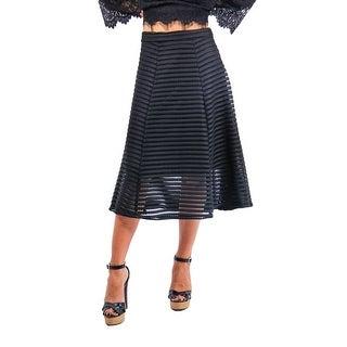 Striped Crochette Tea Length Skirt