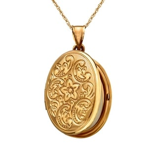Locket Pendant in 10K Gold-Plated Sterling Silver - Yellow