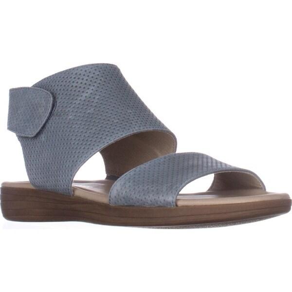 naturalizer Fae Flat Comfort Sandals, Blue Leather - 5 us / 35 eu